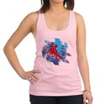 Snowboarder Blasting through th Racerback Tank Top