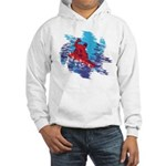 Snowboarder Blasting through the Hooded Sweatshirt