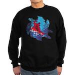 Snowboarder Blasting through the Sweatshirt (dark)