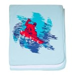 Snowboarder Blasting through the Snow baby blanket