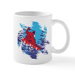 Snowboarder Blasting through the 11 oz Ceramic Mug