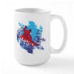Snowboarder Blasting thro 15 oz Ceramic Large Mug