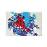 Snowboarder Blasting through the Rectangle Magnet