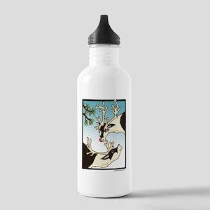 2 Reindeer Pine Stainless Water Bottle 1.0L