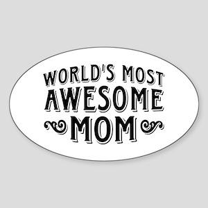 Awesome Mom Sticker (Oval)