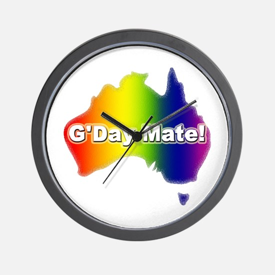 Gay Pride Mate Wall Clock