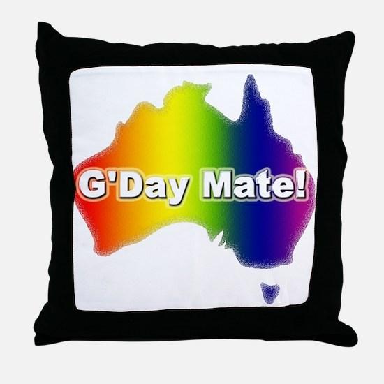 Gay Pride Mate Throw Pillow