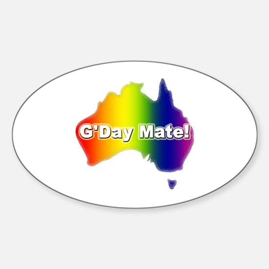 Gay Pride Mate Oval Decal