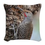 Northern Flicker Woven Throw Pillow