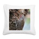 Northern Flicker Square Canvas Pillow