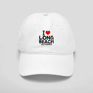 I Love Long Beach, California Baseball Cap