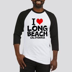 I Love Long Beach, California Baseball Jersey