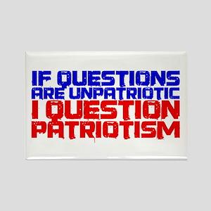 Question Patriotism Rectangle Magnet