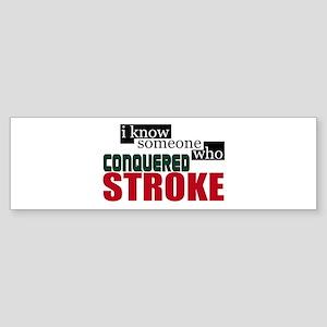 I Know Someone Who Conquered Stroke Sticker (Bumpe