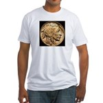 Nickel Indian-Buffalo Fitted T-Shirt