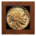 Nickel Indian Head Framed Tile
