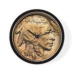 Nickel Indian Head Wall Clock