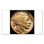 Nickel Indian Head Rectangle Sticker