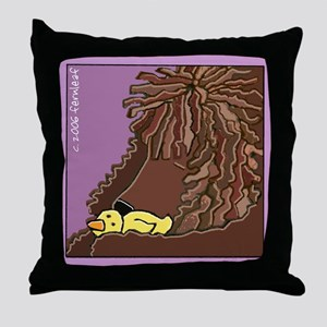 Sleeping Irish Water Spaniel Throw Pillow