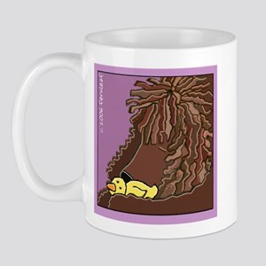 Sleeping Irish Water Spaniel Mug