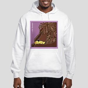 Sleeping Irish Water Spaniel Hooded Sweatshirt