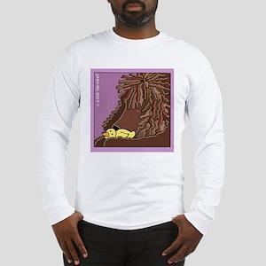 Sleeping Irish Water Spaniel Long Sleeve T-Shirt