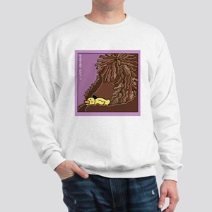 Sleeping Irish Water Spaniel Sweatshirt