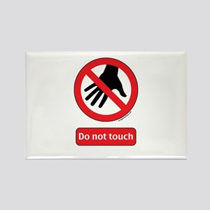 Do not touch sign Rectangle Magnet