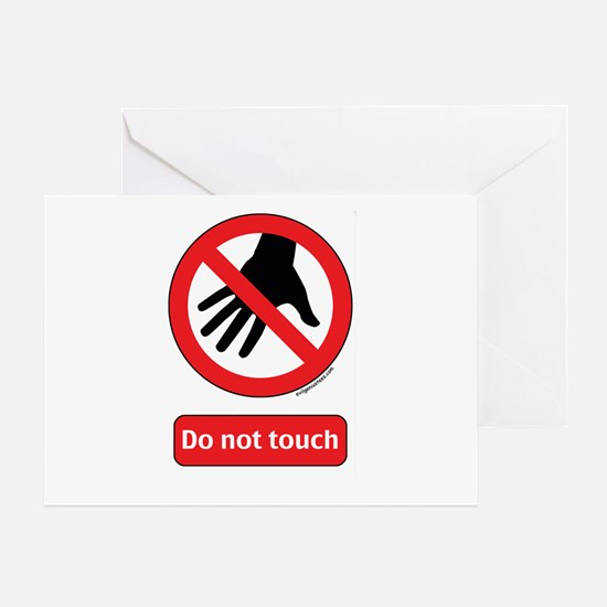 Do not touch sign Greeting Card