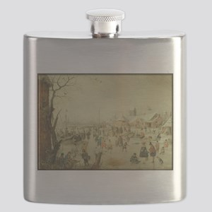 Winter Skaters Flask