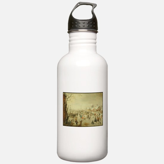 Winter Skaters Water Bottle