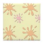 Splatter Design Tile Coaster
