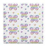 Rainbow Butterflies Tile Coaster
