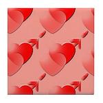 Heart Design Tile Coaster