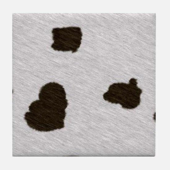 Cow Print Tile Coaster