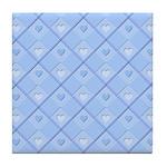 Blue Hearts Tile Coaster