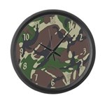 Camouflage Large Wall Clock