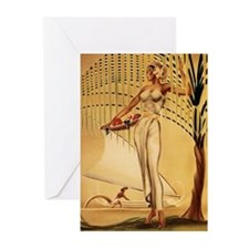 Gill: 'Wahine with Basket' Greeting Cards (Package