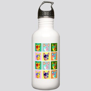 Cattle Dog Pop Art Stainless Water Bottle 1.0L