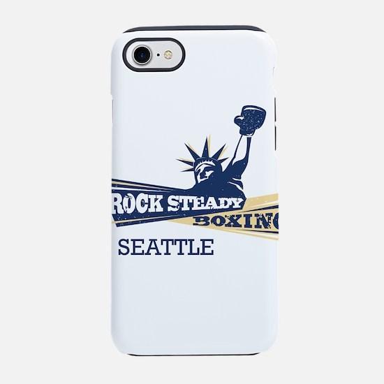 Rock Steady Boxing Seattle Log iPhone 7 Tough Case