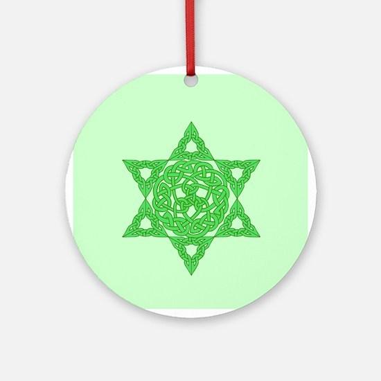 Celtic Star of David Ornament (Round)