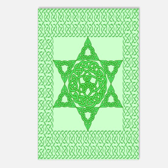 Celtic Star of David Postcards (Package of 8)