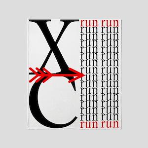 XC Run Run Throw Blanket