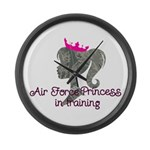 Air Force Princess Large Wall Clock