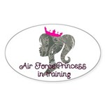 Air Force Princess Sticker (Oval 10 pk)