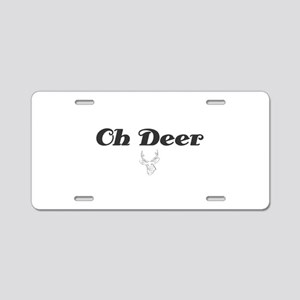 Oh Deer Aluminum License Plate