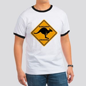 Kangaroo Crossing Sign Ringer T