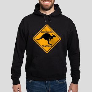 Kangaroo Crossing Sign Hoodie (dark)