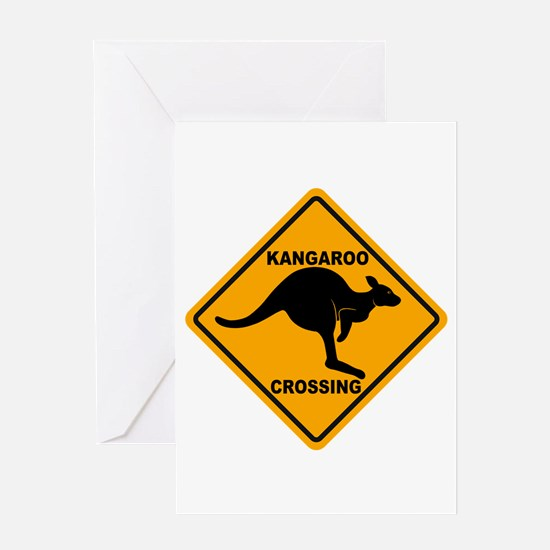 Kangaroo Crossing Sign Greeting Card