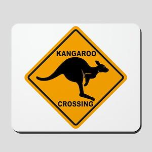 Kangaroo Crossing Sign Mousepad